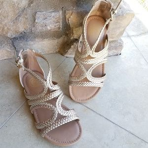 SO Braided Strappy Sandals
